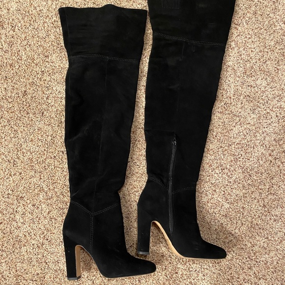 Inch Black Over The Knee Boots | Poshmark